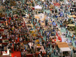 Austin Home and Garden Show convention center floor with crowd