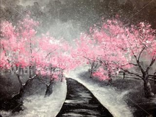 Painting with a Twist, Pretty in Pink at Night