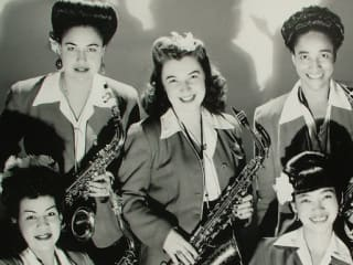 Girls in the Band screen shot with women in jazz band