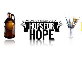 logo for Hops for HOPE art and beer bazaar
