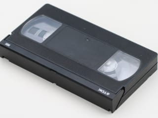 photo of a blank VHS tape