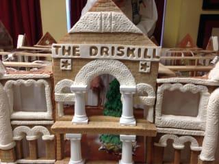 gingerbread house replica of Driskill Hotel