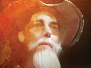 painting of Don Quixote for Long Center's Man of La Mancha