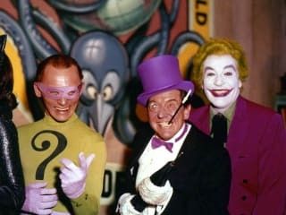 Catwoman, The Riddler, The Penguin and The Joker villains from Batman the Movie