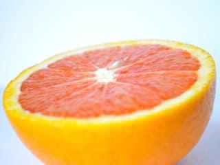 grapefruit cut in half