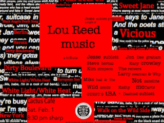 poster for the Lou Reed tribute at the Cactus Cafe