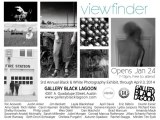 flyer for the Gallery Black Lagoon black and white photography show