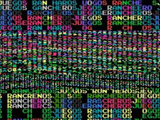 8-bit logo for Juegos Rancheros video games