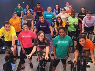 riders and cyclists in the 20 Colors/20 Hours fundraiser