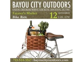 Bayou City Outdoors Farmer's Market Bike Ride