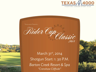 poster for the Rider Cup Classic 2014 presented by Texas 4000