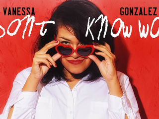 promo for Vanessa Gonzalez show I Don't Know Words
