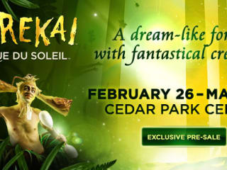 flyer for Cirque du Soleil's Varekai at Cedar Park Center