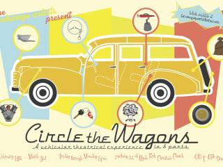 poster for the Exchange Artists theatre show Circle the Wagons