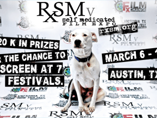 poster for RxSM self-medicated film expo of Austin festival