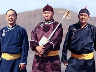 members of Alash Ensemble from the Republic of Tuva