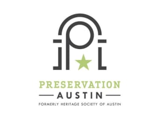 logo for Preservation Austin formerly the Heritage Society