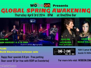 poster for Wobeon Global Spring Awakening music showcase