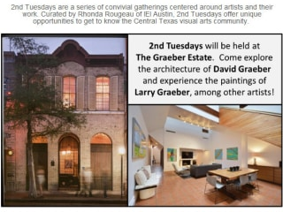 flyer for IEIaustin second tuesdays gatherings at Graeber Estate