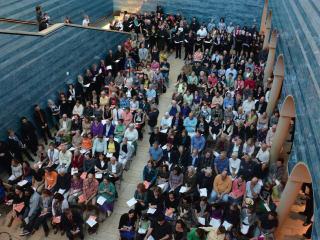 audience at Blanton for Conspirare big sing show