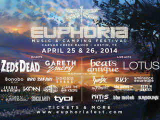 poster lineup of 2014 Euphoria Music Festival
