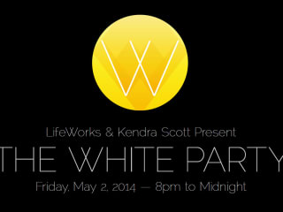 poster of the 2014 White Party for LifeWorks and Kendra Scott
