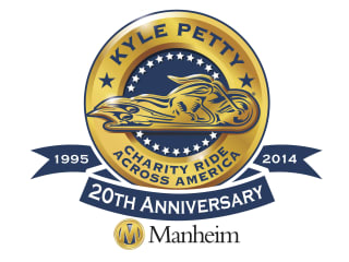 logo for 20th anniversary Kyle Petty Charity Ride event