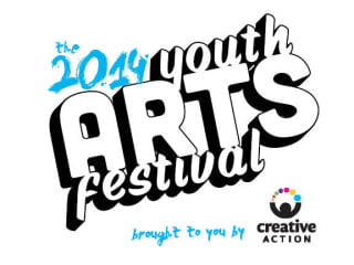logo for Youth Arts Festival presented by Creative Action