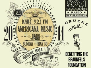 poster for 18th annual Americana Music Jam at Gruene Hall