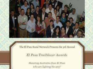 poster for 2014 El Paso Social Network's Austin Trailblazers Reception