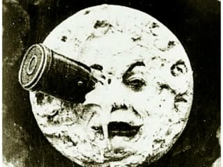 man in the moon from George Melies film Trip to the Moon