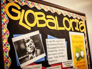 Globaloria bulletin board for East Austin College Prep