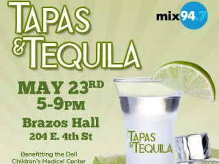 flyer for Mix 94.7 benefit Tapas and Tequila