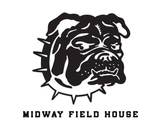 bulldog logo for Midway Field House