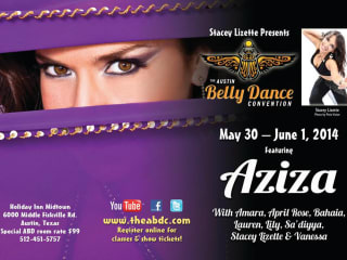 poster for Austin Belly Dance Convention 2014