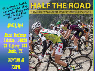 poster for Half the Road documentary on women's cycling