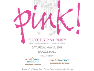 poster for Komen Austin Perfectly Pink Party 2014