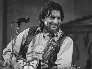 Waylon Jennings performing