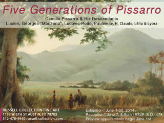 poster for Pissarro Exhibition at Russell Collection gallery