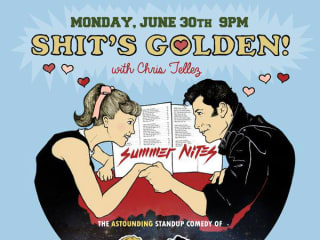 poster for June 2014 Shit's Golden show at Spider House with Chris Tellez
