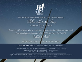 """The Moran Norris Foundation's Eighth Annual """"Follow Me to the Stars"""" Charity Gala Dinner"""