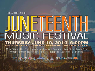 poster for austin first annual Juneteenth Music Festival