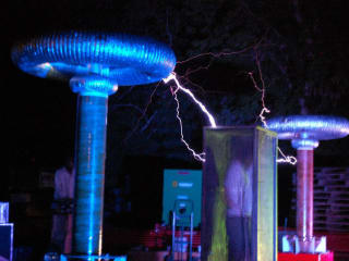 tesla coils at the annual Austin Tesla Project