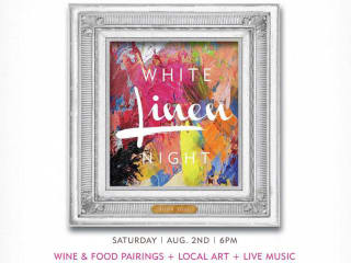 poster for 2nd street district second annual White Linen Party