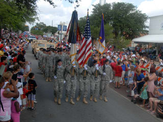 fourth of july parade in downtown Round Rock frontier days