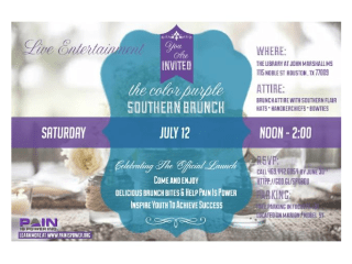 """Pain Is Power's launch event """"A Southern Brunch"""""""