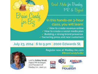 """Medley Incorporated hosts """"Brain Candy for Biz: Social Media for Branding, PR and Beyond"""""""