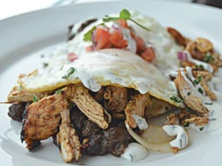Bonneville Pajama Brunch chipotle chicken hash