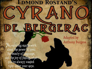 poster for City Theatre company Cyrano de Bergerac