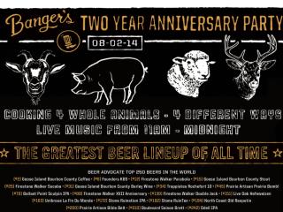 Banger's poster for second anniversary celebration